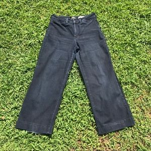 Nydj black denim wide leg plus 14 stretchy jeans